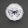 Svartvit fjäril, justerbar ring i antiksilver