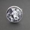 Beskyddande ängel, justerbar ring i ljus silverfärg