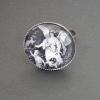 Beskyddande ängel, justerbar ring i antiksilver