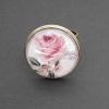 Gammaldags ros, justerbar ring i bronsfärg