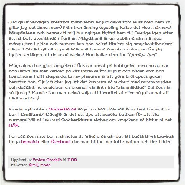 Blogglänkad för andra gången